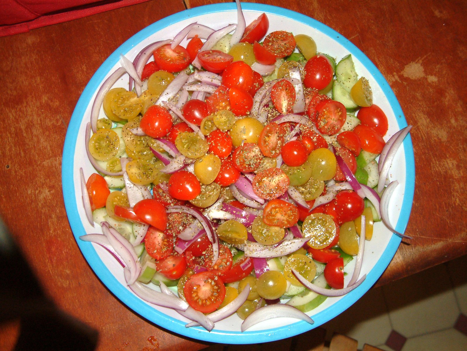 Greek salad with my maters