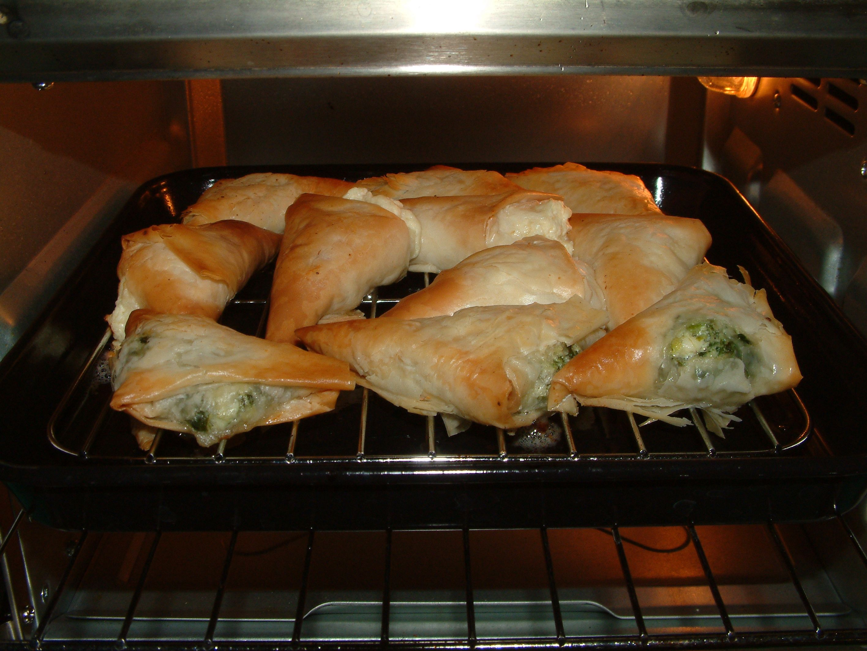 Cheese and Spinach Pies - Done!